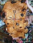 שעון מעץ זית מלא