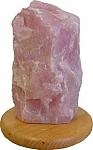 מנורת אבן רוז קוורץ