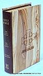"""תנ""""ך  באנגלית בכריכת עץ"""