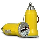 מתאם USB לרכב צהוב