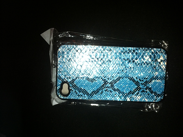 כיסוי דמוי עור נחש קשיח לאייפון 4 - 1