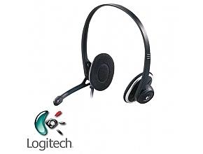אוזניות + מיקרופון Logitech USB Headset H330 - 1