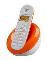 טלפון אלחוטי כתום דיגיטלי DECT GAP מבית MOTOROLA דגם C601 - 1