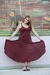 שמלה דמוי עור עם כתפיות