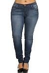 ג'ינס סקיני משופשף