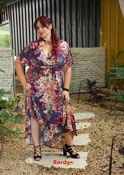 שמלת מקסי פלור - 1