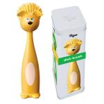 מברשת כלב + אריזת פח מתנה - מברשת צהובה