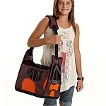 PetEgo - מנשא Boby Bag עם מסגרת תמיכה - חום / כתום