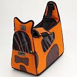 PetEgo - מנשא Boby Bag עם מסגרת תמיכה - כתום / חום