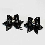 """זוג פפיונים למלטזים - """"פנינה שחורה"""""""