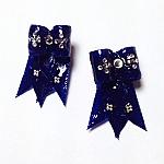 זוג פפיונים למלטזים - כחול / סגנון אמריקאי