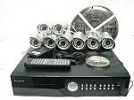 ערכת DVR מושלמת ל 8 מצלמות אבטחה לראיית לילה