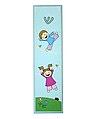 """מזוזת ילדים מעץ צבע כחול בהיר """"ילדים צבע משחקים"""" 7 ס""""מ"""