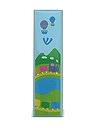 """מזוזת ילדים מעץ צבע כחול בהיר """"רכבת"""" 7 ס""""מ"""
