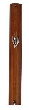"""- מזוזה עץ בהיר 12 ס""""מ ללא גב - 1"""