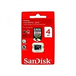 כרטיס זיכרון SanDisk MicroSD 4GB SDSDQM-004G