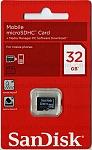 כרטיס זיכרון SanDisk Micro SDHC 32GB SDSDQ-032G