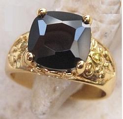 טבעת יוקרתית 18ל גבר קראת משובצת אבן ספפיר