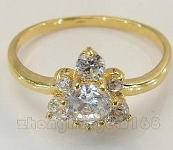 טבעת יוקרתית לאישה 18 קראת משובצת אבן םפיר גולד פילד