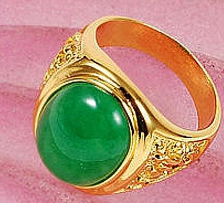 טבעת יוקרתית 18ל גבר קראת משובצת אבן ספפיר - 1