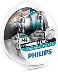 זוג נורות פיליפס H4 X-treme - 130%