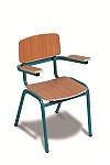 כסא גן מתכת עם זרועות