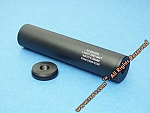 +/-14mm threaded 170mm Black aluminum silencer with 'light weight' markings