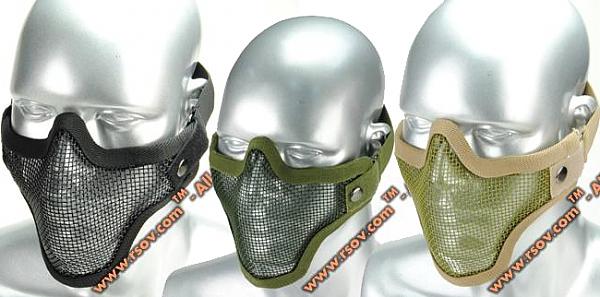 A.C.M. strike steel lower face mesh mask - 1