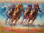 מרוץ הסוסים רקע ורוד