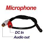 מיקרופון נסתר לחיבור למערכת DVR להקלטת קול