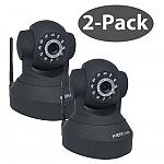 סט 2 מצלמות - מצלמת אבטחה IP אלחוטית ממונעת עם ראיית לילה Foscam FI8918W