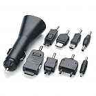 8-in-1 Car Cigarette Powered Cell Phone Charger for Nokia + Motorola + Samsung + More (DC 12V)