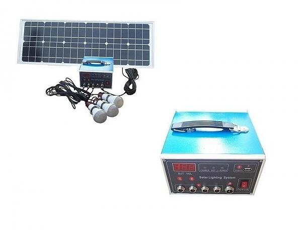 מערכת תאורה סולארית 30W - 1