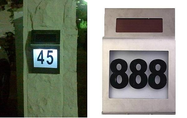 מספר סולארי מואר לבית - 1