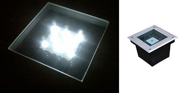 תאורת רצפה סולארית - 1