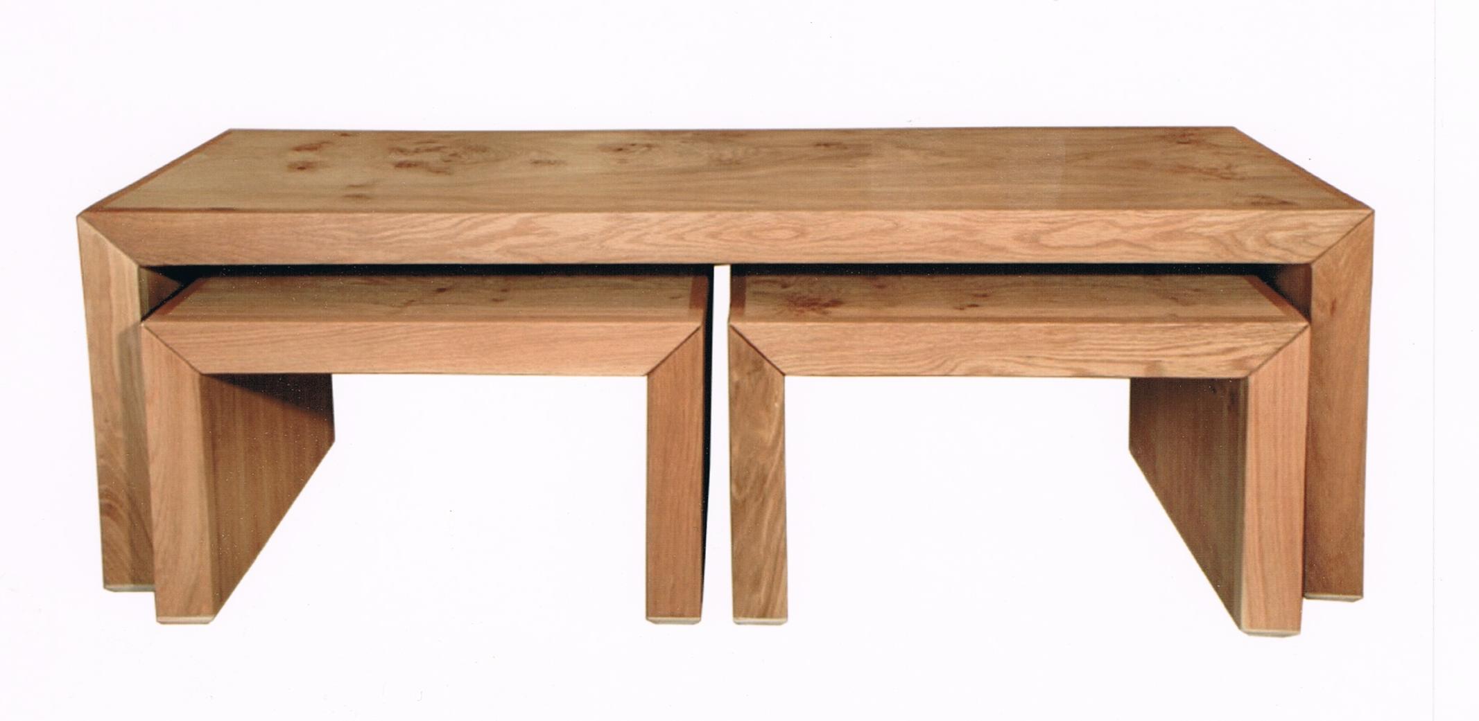 נפלאות 2 שולחנות סלון בתוך שולחן מאלון מבוקע דגם N161   Yalla.co.il AY-36