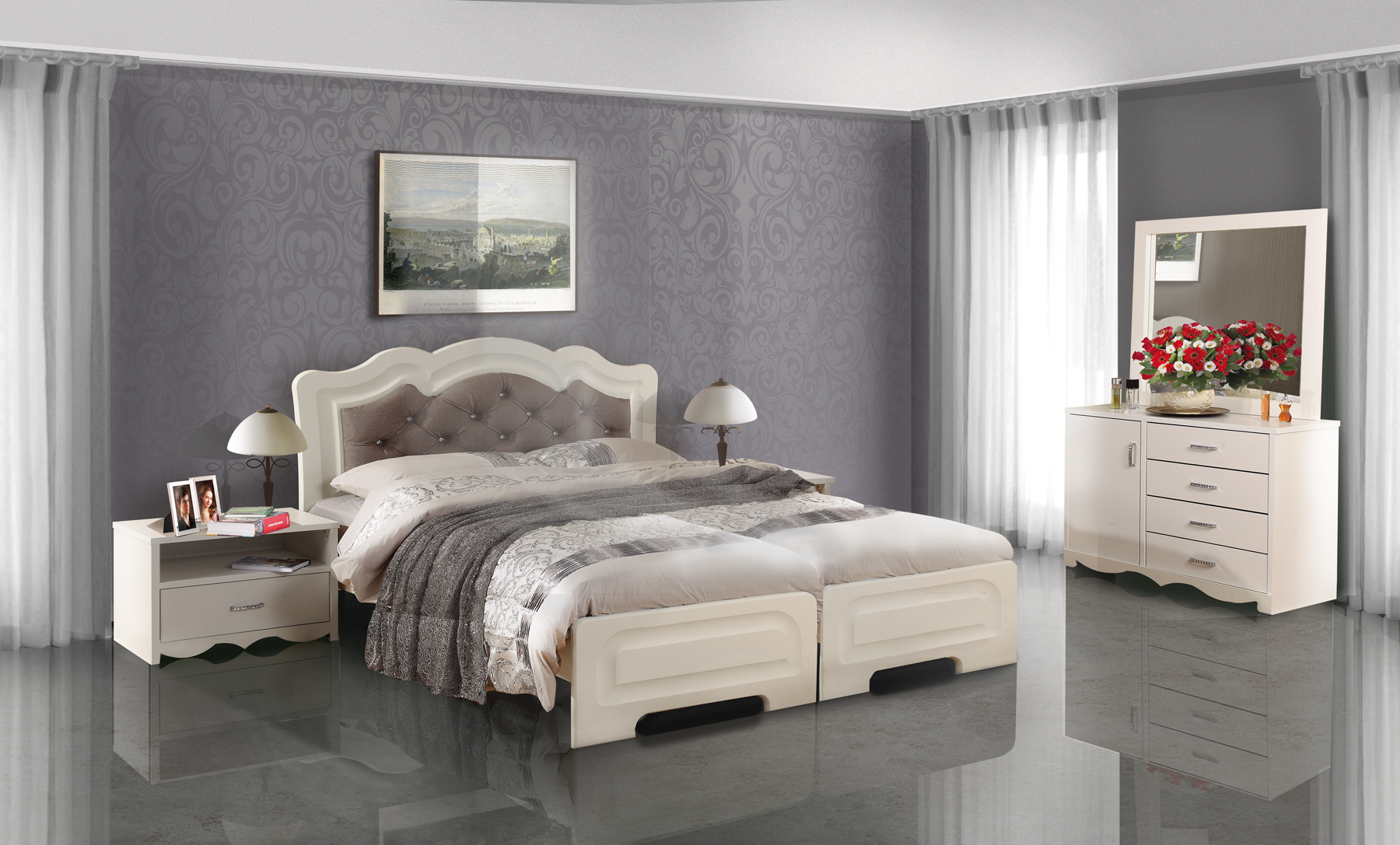 סופר חדר שינה מיטה יהודית דגם מינה | Yalla.co.il LF-94