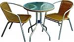 סט ישיבה לקפה שולחן+2 כסאות