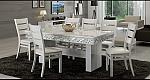 שולחן פינת אוכל + 6 כיסאות מאפוקסי בשילוב אבני קריסטל דגם שגב