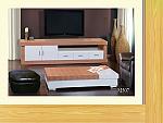 מזנון + שולחן דגם M507 מעץ אלון מבוקע  בשילוב אפוקסי