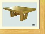 שולחן פינת אוכל + 6 כיסאות דגם T010 מעץ אלון