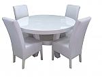 שולחן פינת אוכל + 4 כיסאות מאפוקסי דגם זוהר