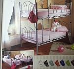 מיטה קומותיים מברזל דגם שלהבת