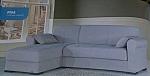סלון  מערכת ישיבה פינתית נפתחת למיטה מבד דגם פיזה