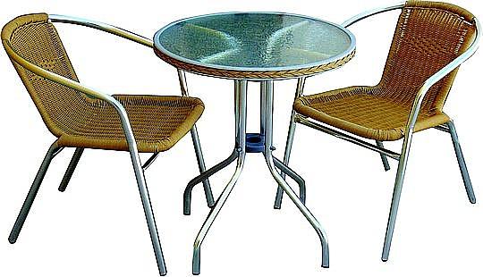 סט ישיבה לקפה שולחן+2 כסאות - 1