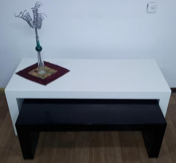 שולחן בתוך שולחן אפוקסי דגם דאבל - 1