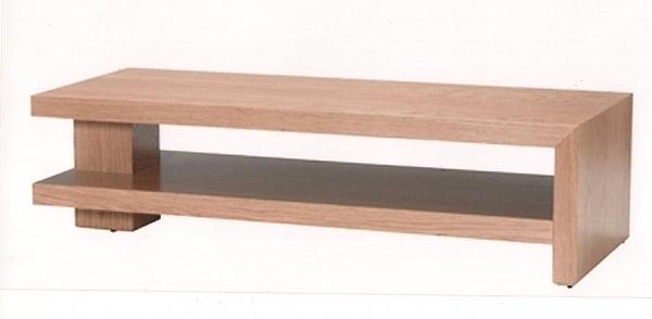 שולחן סלון מעץ אלון מבוקע  דגם N 102 - 1