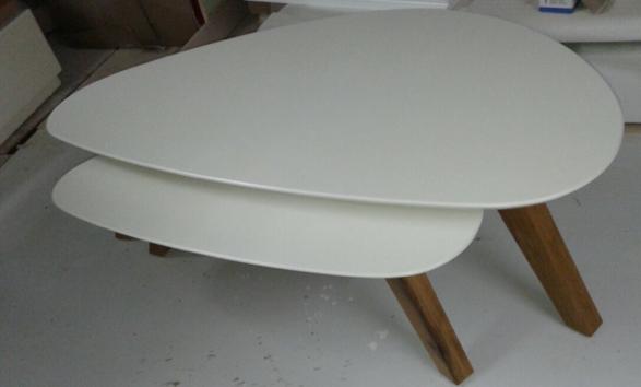 שולחן בתוך שולחן אלון מבוקע בשילוב אפוקסי דגם c170 - 1
