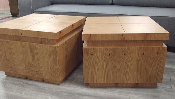 2 קוביות שולחן סלון מאלון מבוקע דגם c 55 - 1