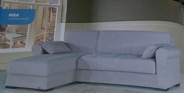 סלון \ מערכת ישיבה פינתית נפתחת למיטה מבד דגם פיזה - 1